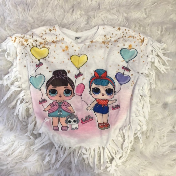 LOL Dolls Frilly shirt with T-shirt sleeve